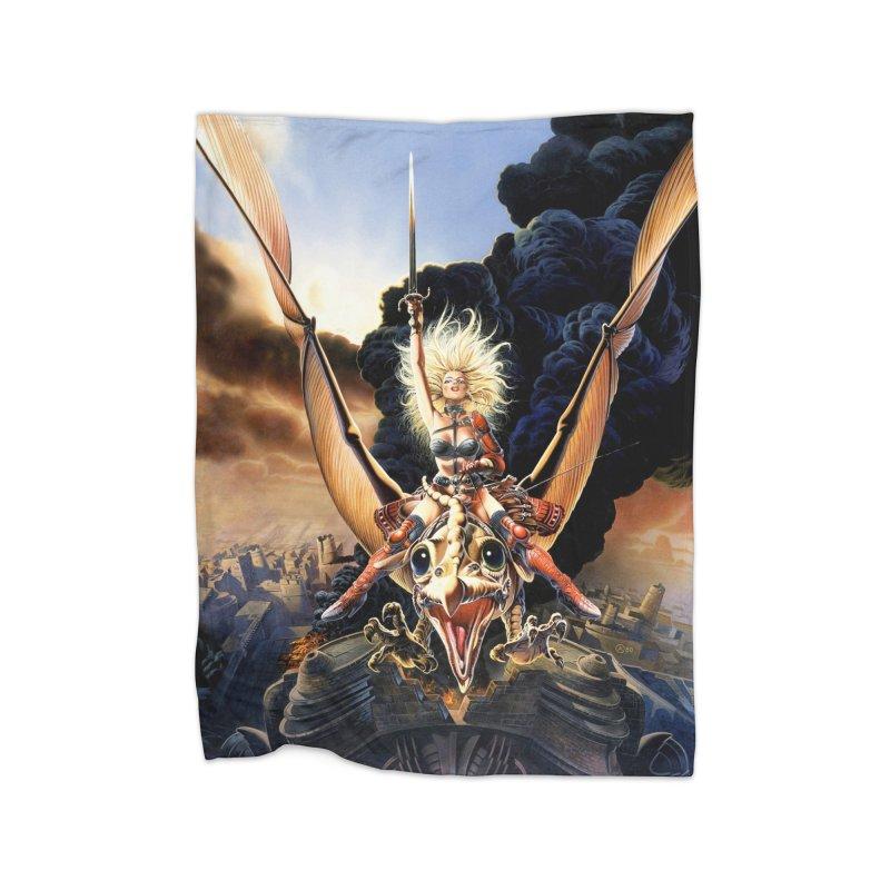 Taarna - Chris Achilleos Home Blanket by Heavy Metal Magazine