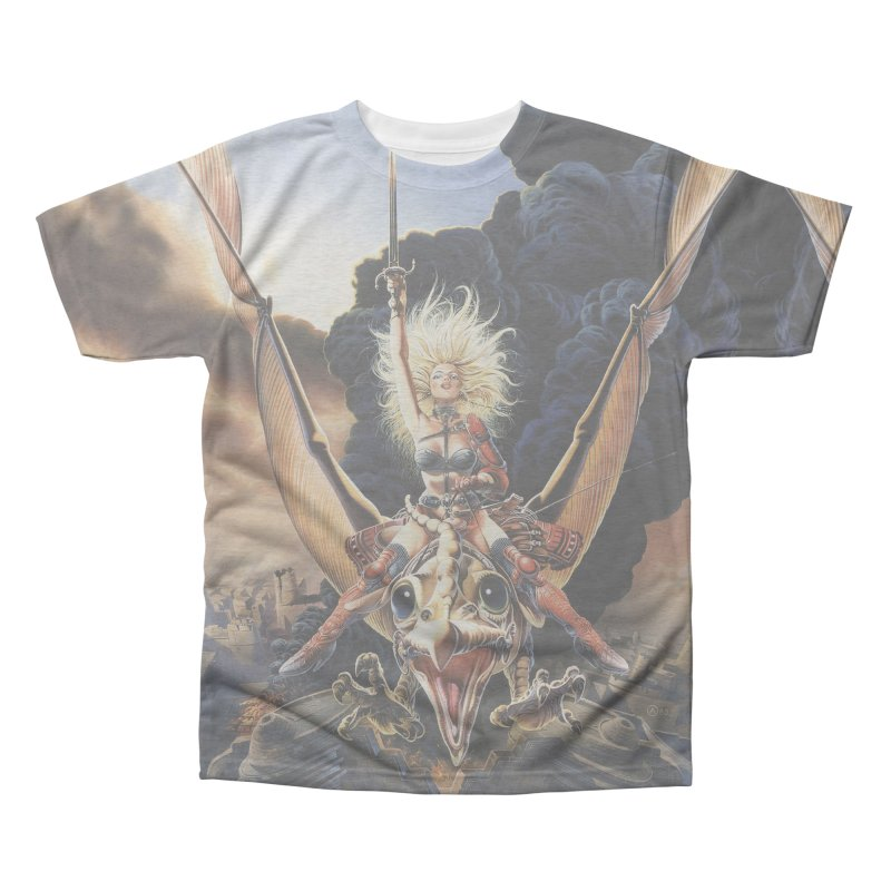 Taarna - Chris Achilleos Men's All-Over Print Triblend T-Shirt by Heavy Metal Magazine