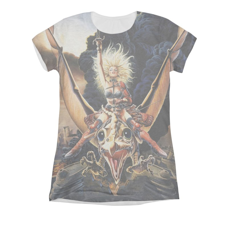 Taarna - Chris Achilleos Women's All-Over Print Triblend T-Shirt by Heavy Metal Magazine