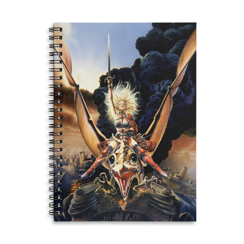 Taarna - Chris Achilleos Accessories Lined Spiral Notebook by Heavy Metal Magazine