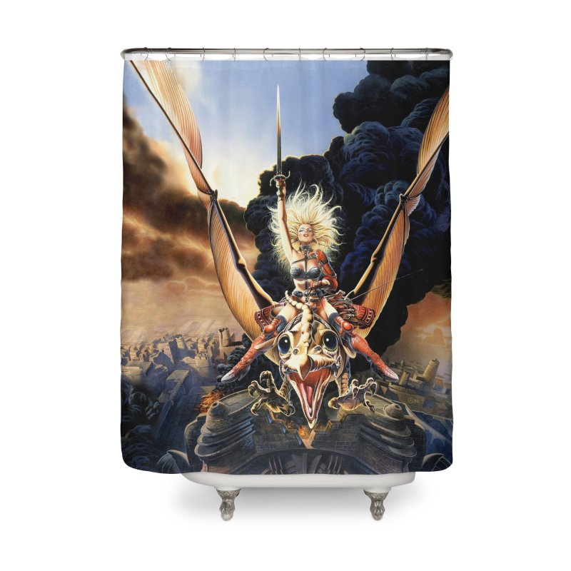 Taarna - Chris Achilleos Home Shower Curtain by Heavy Metal Magazine