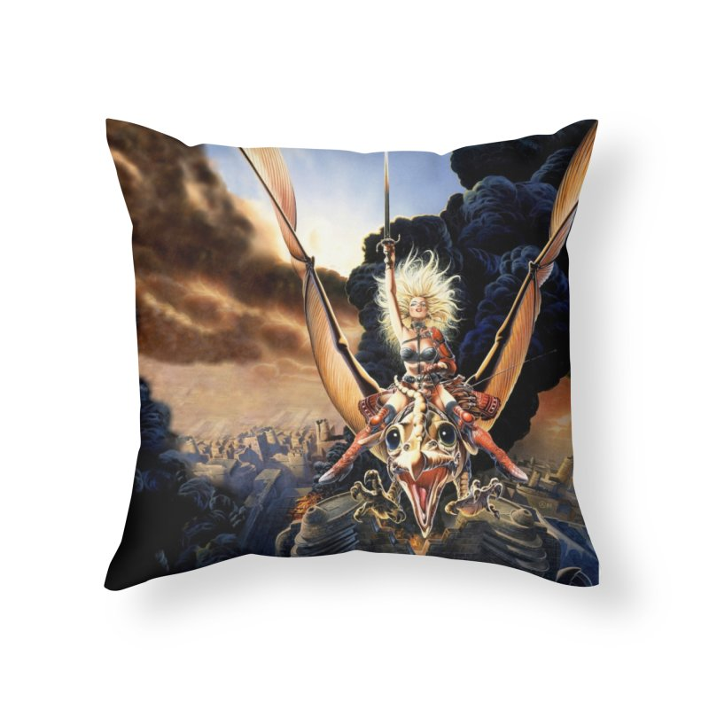 Taarna - Chris Achilleos Home Throw Pillow by Heavy Metal Magazine