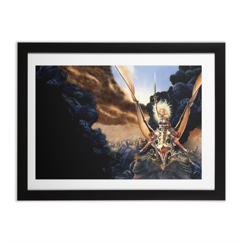 Taarna - Chris Achilleos Home Framed Fine Art Print by Heavy Metal Magazine