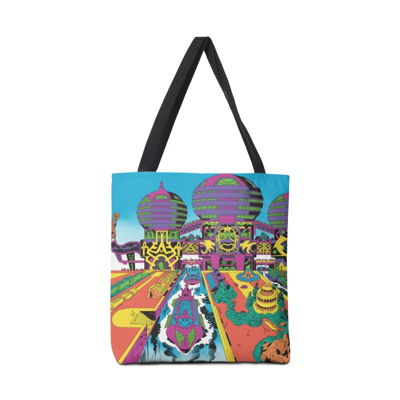 Hostel of Hawkana - Jack Kirby and Barry Geller Accessories Tote Bag Bag by Heavy Metal Magazine