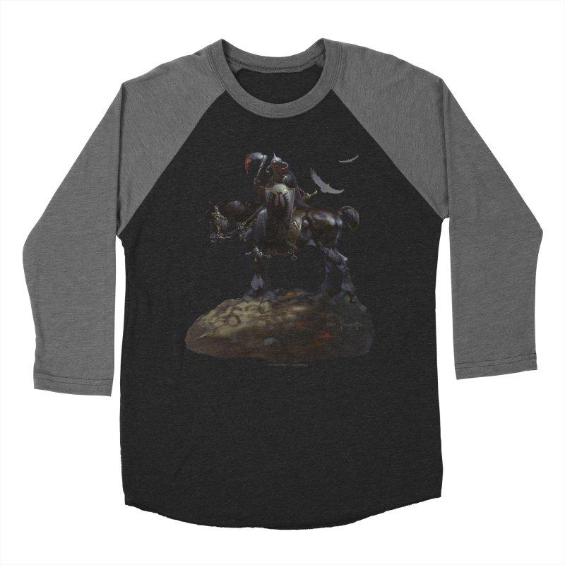 Death Dealer Men's Baseball Triblend Longsleeve T-Shirt by Heavy Metal Magazine