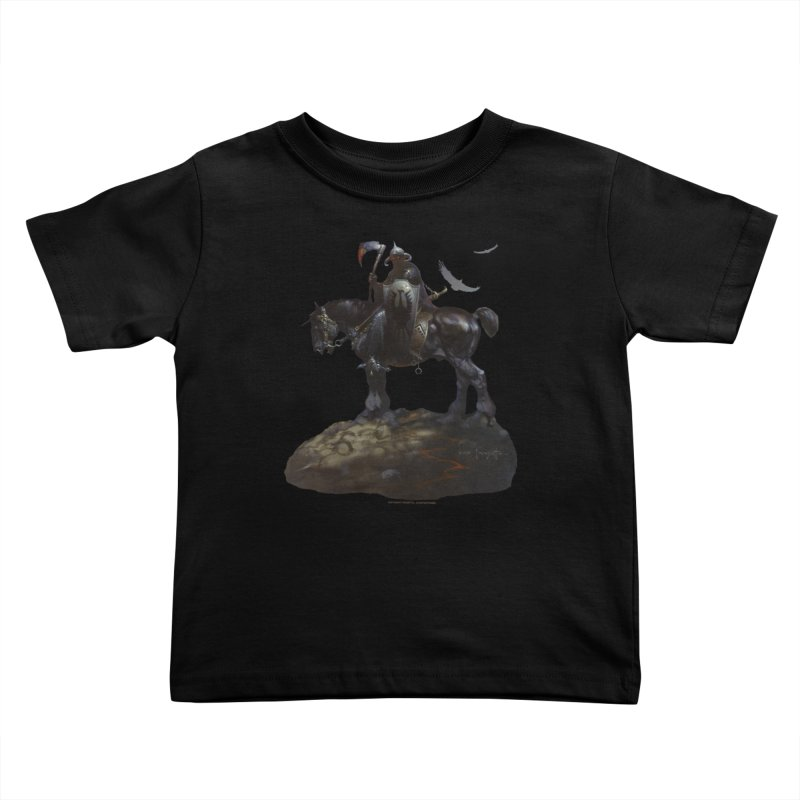Death Dealer Kids Toddler T-Shirt by Heavy Metal Magazine