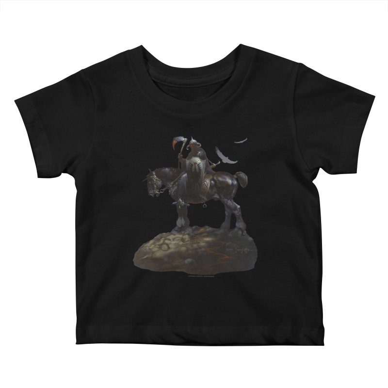 Death Dealer Kids Baby T-Shirt by Heavy Metal Magazine