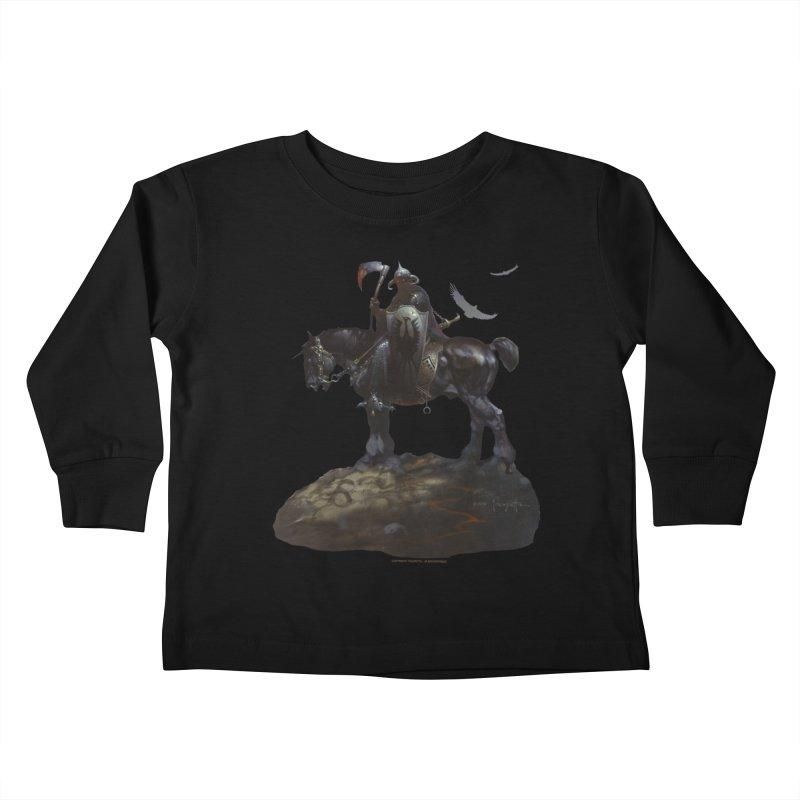 Death Dealer Kids Toddler Longsleeve T-Shirt by Heavy Metal Magazine