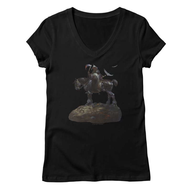Death Dealer Women's Regular V-Neck by Heavy Metal Magazine