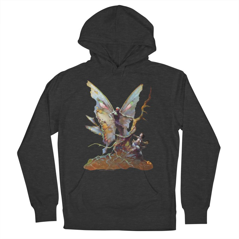 Mothman Women's French Terry Pullover Hoody by Heavy Metal Magazine