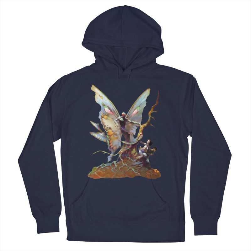 Mothman Men's French Terry Pullover Hoody by Heavy Metal Magazine