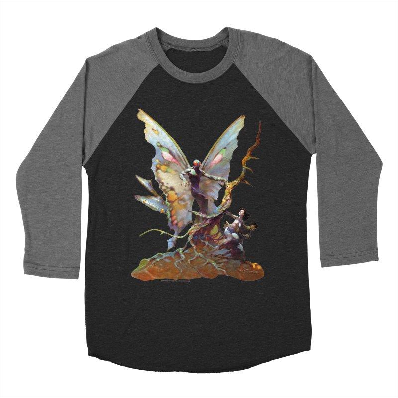 Mothman Men's Baseball Triblend Longsleeve T-Shirt by Heavy Metal Magazine
