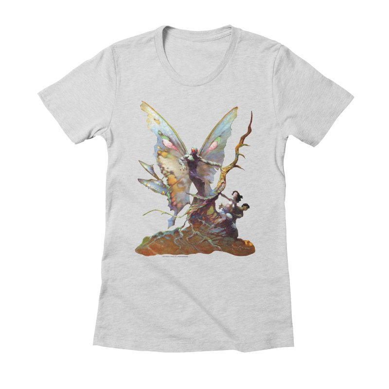 Mothman Women's Fitted T-Shirt by Heavy Metal Magazine