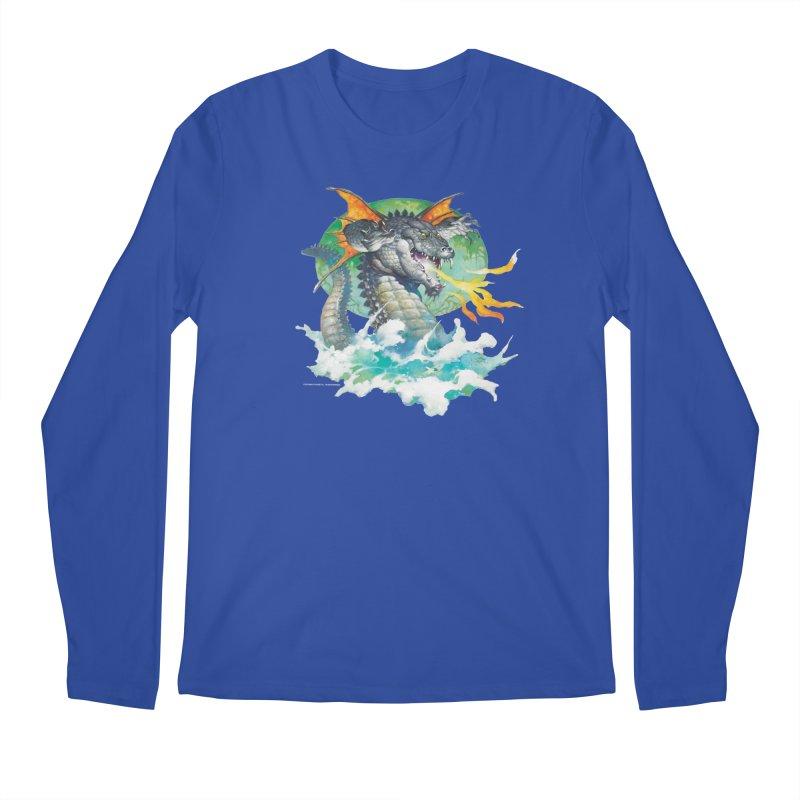 Winged Dragon Men's Regular Longsleeve T-Shirt by Heavy Metal Magazine