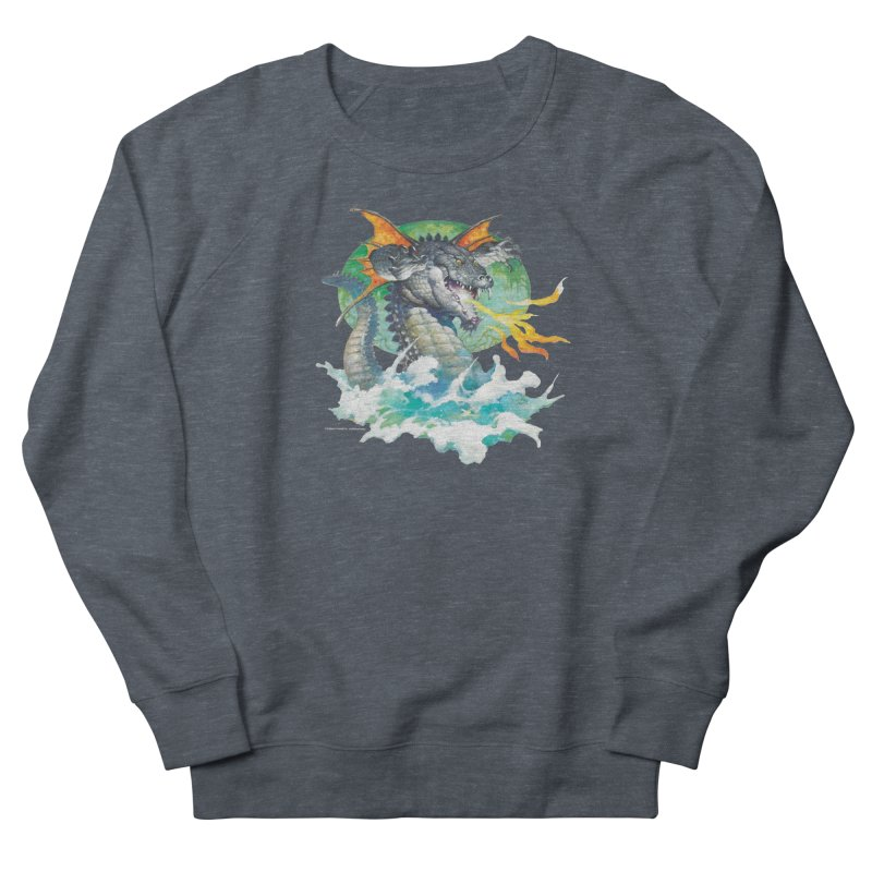 Winged Dragon Men's French Terry Sweatshirt by Heavy Metal Magazine