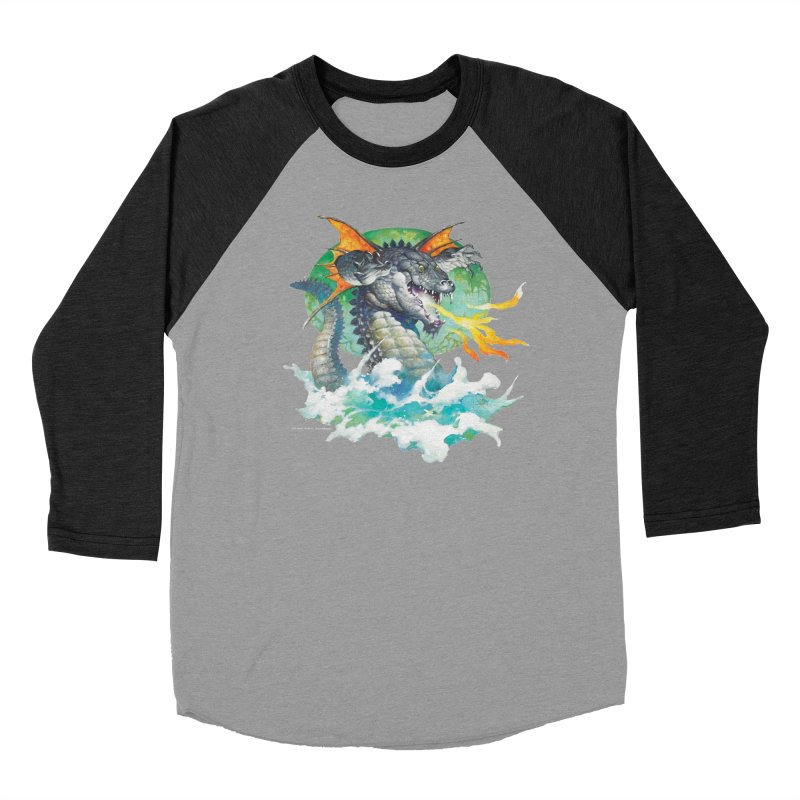 Winged Dragon Men's Baseball Triblend Longsleeve T-Shirt by Heavy Metal Magazine