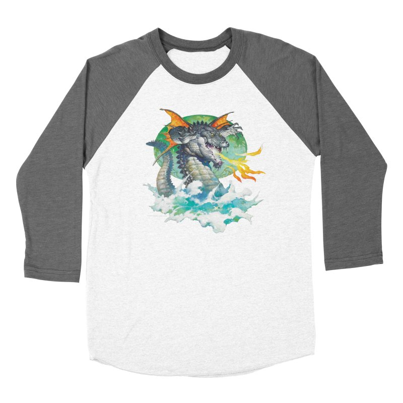 Winged Dragon Men's Baseball Triblend T-Shirt by Heavy Metal Magazine