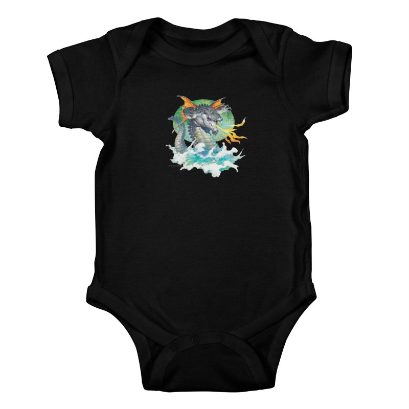 Winged Dragon Kids Baby Bodysuit by Heavy Metal Magazine