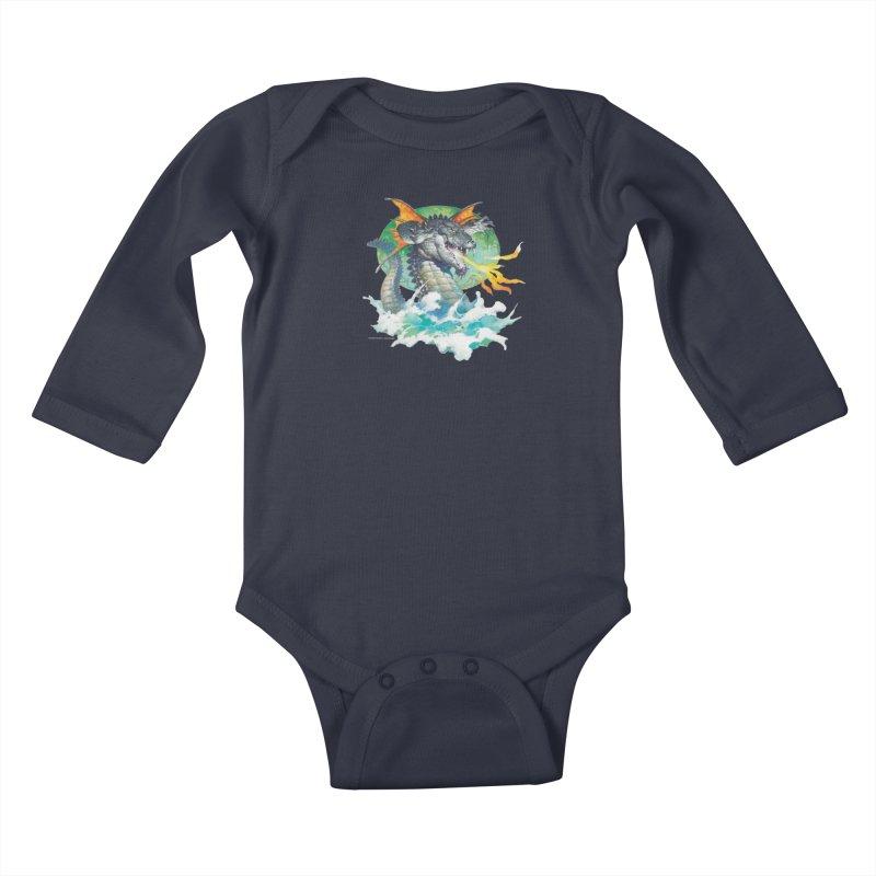 Winged Dragon Kids Baby Longsleeve Bodysuit by Heavy Metal Magazine