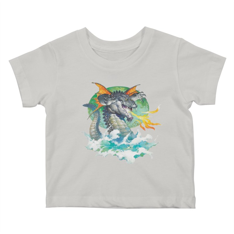 Winged Dragon Kids Baby T-Shirt by Heavy Metal Magazine