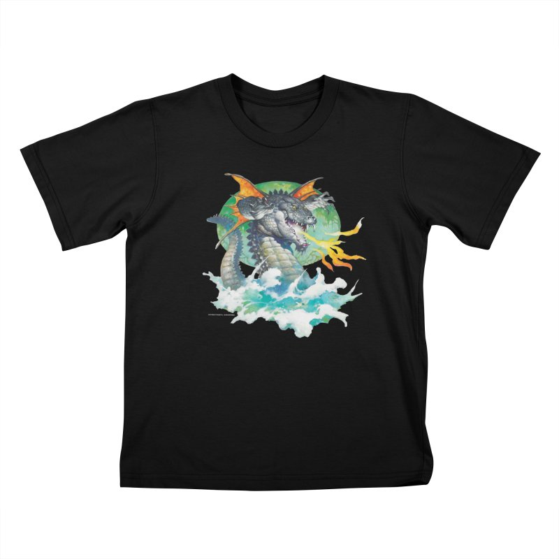 Winged Dragon Kids T-Shirt by Heavy Metal Magazine