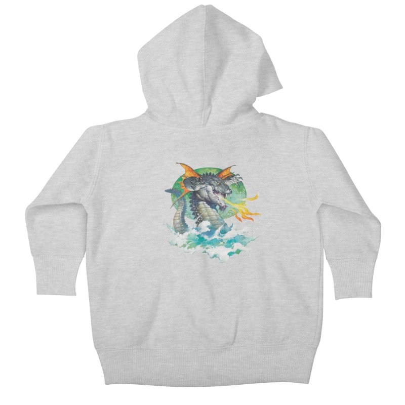 Winged Dragon Kids Baby Zip-Up Hoody by Heavy Metal Magazine