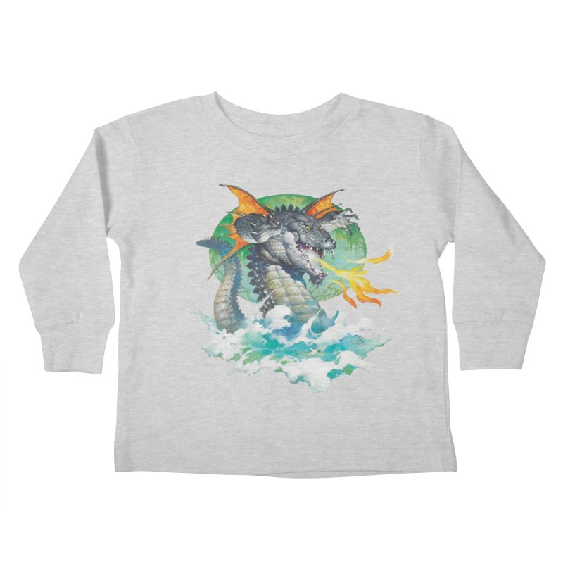 Winged Dragon Kids Toddler Longsleeve T-Shirt by Heavy Metal Magazine