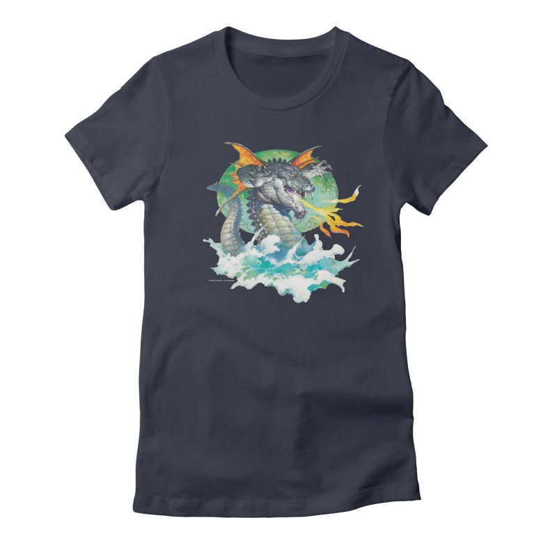 Winged Dragon Women's Fitted T-Shirt by Heavy Metal Magazine