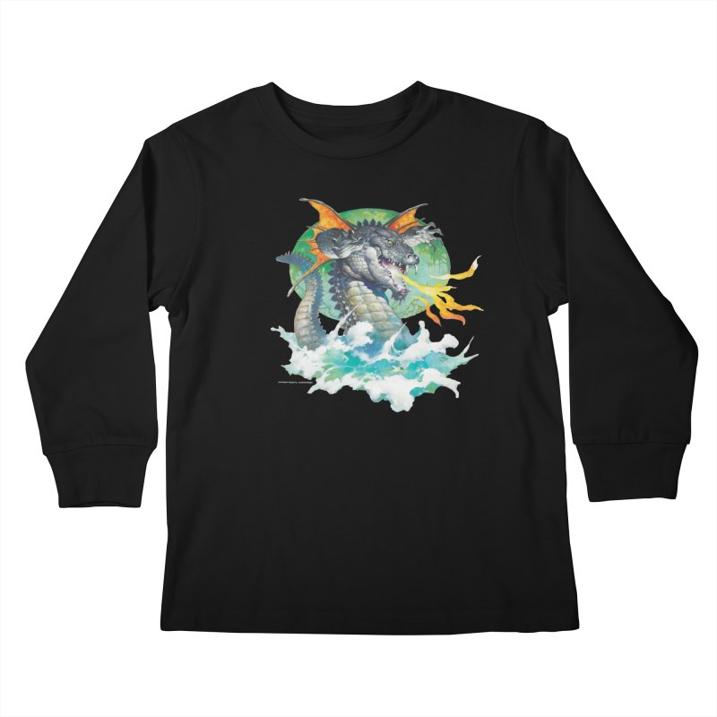 Winged Dragon Kids Longsleeve T-Shirt by Heavy Metal Magazine