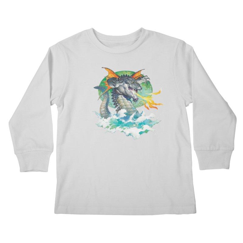 Winged Dragon Kids Longsleeve T-Shirt by Heavy Metal Magazine