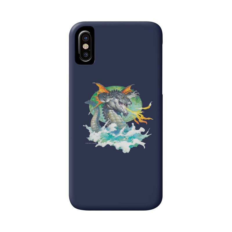Winged Dragon Accessories Phone Case by Heavy Metal Magazine