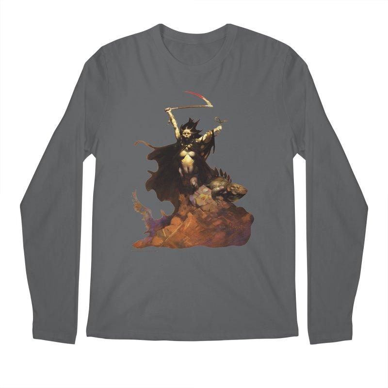 Woman with the Scythe Men's Regular Longsleeve T-Shirt by Heavy Metal Magazine