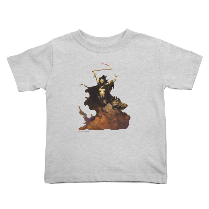 Woman with the Scythe Kids Toddler T-Shirt by Heavy Metal Magazine