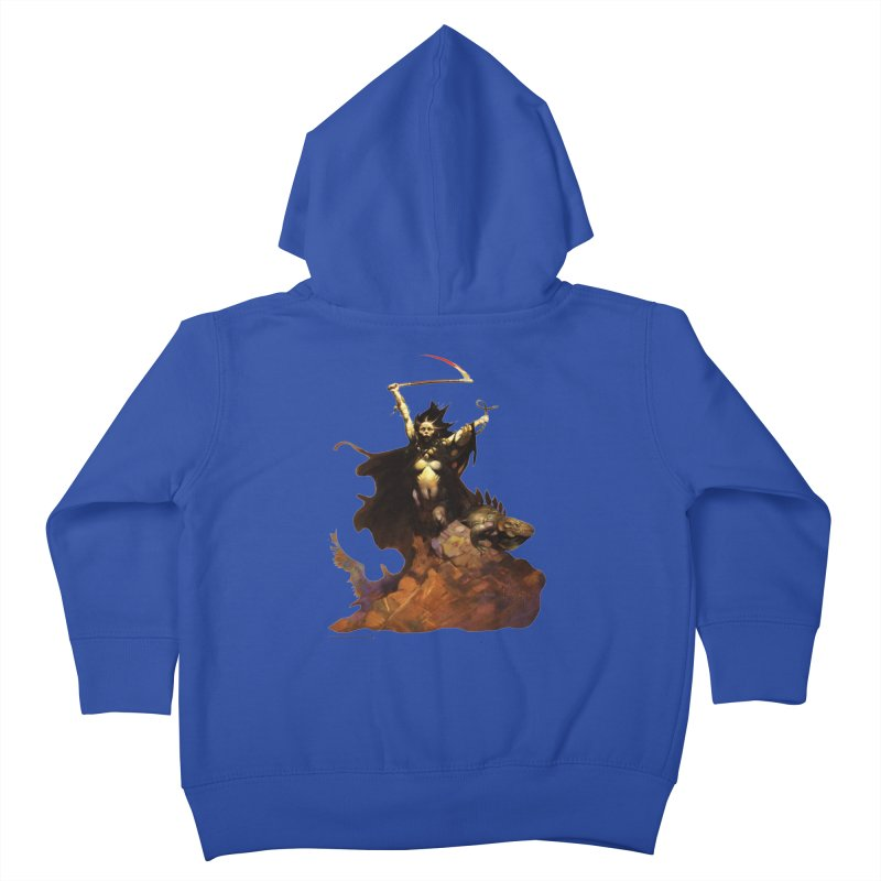 Woman with the Scythe Kids Toddler Zip-Up Hoody by Heavy Metal Magazine