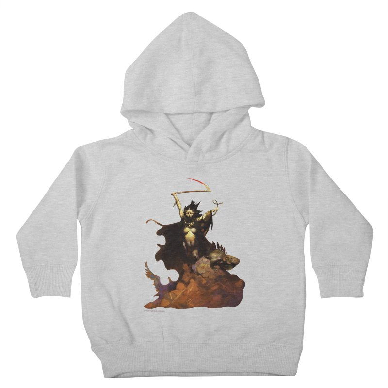 Woman with the Scythe Kids Toddler Pullover Hoody by Heavy Metal Magazine
