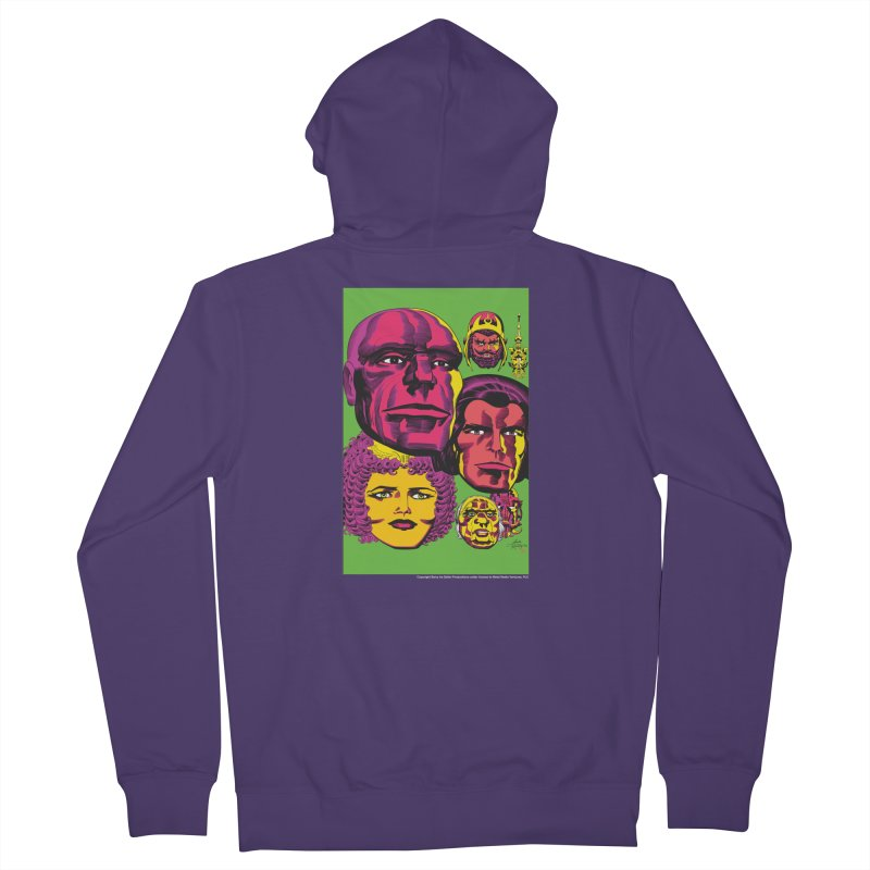 Portraits Women's French Terry Zip-Up Hoody by Heavy Metal Magazine