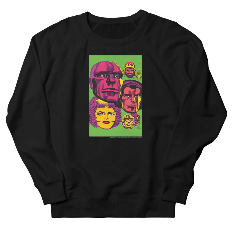 Portraits Men's French Terry Sweatshirt by Heavy Metal Magazine