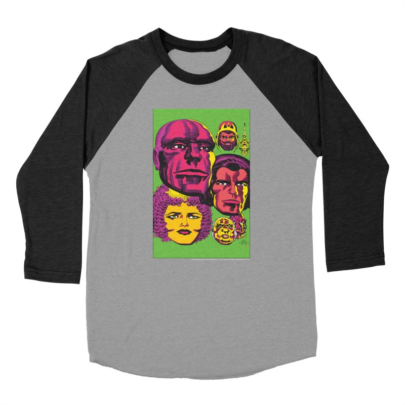 Portraits Men's Baseball Triblend Longsleeve T-Shirt by Heavy Metal Magazine