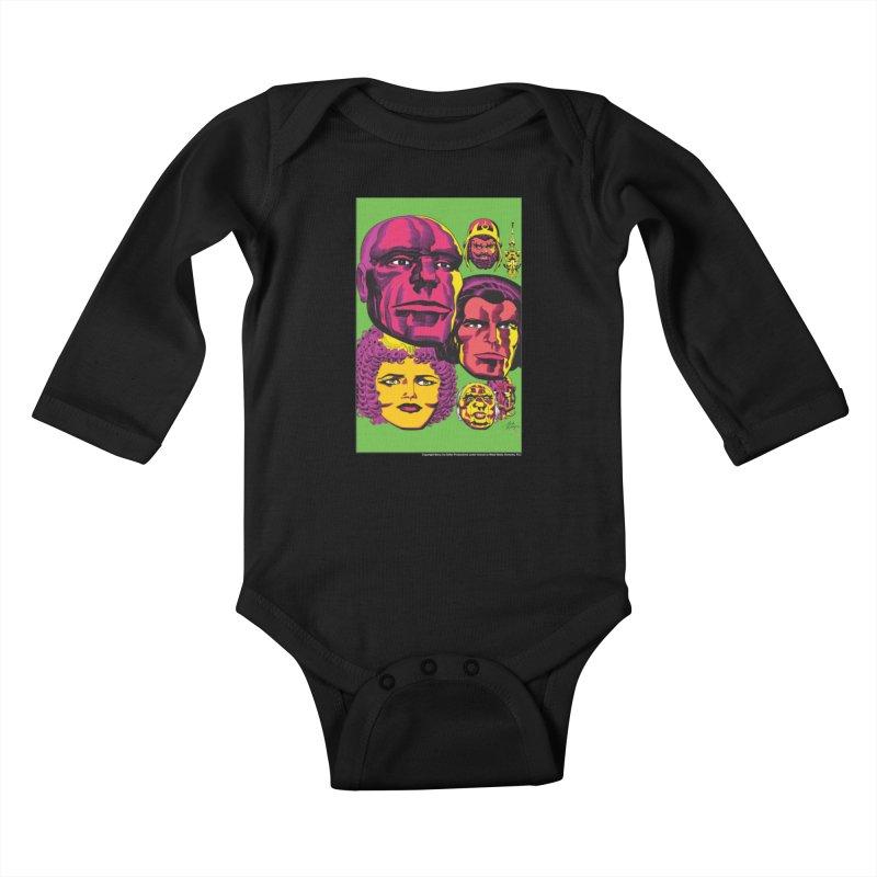 Portraits Kids Baby Longsleeve Bodysuit by Heavy Metal Magazine