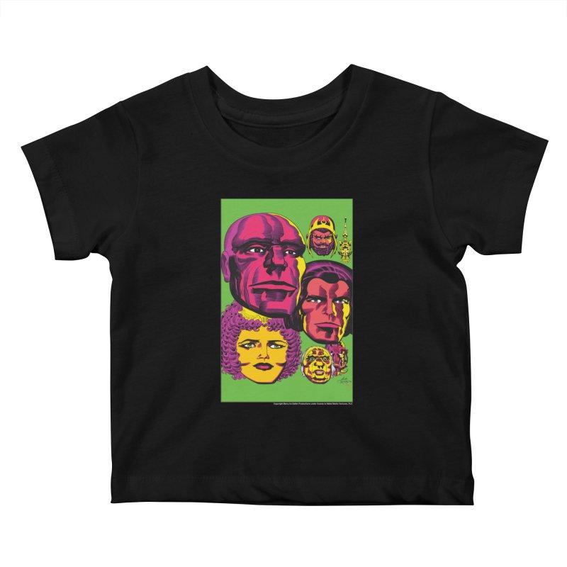 Portraits Kids Baby T-Shirt by Heavy Metal Magazine