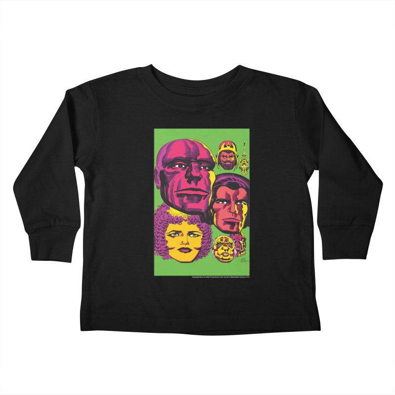 Portraits Kids Toddler Longsleeve T-Shirt by Heavy Metal Magazine
