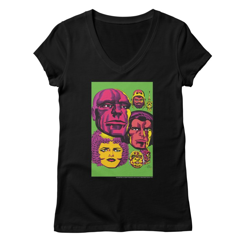 Portraits Women's Regular V-Neck by Heavy Metal Magazine