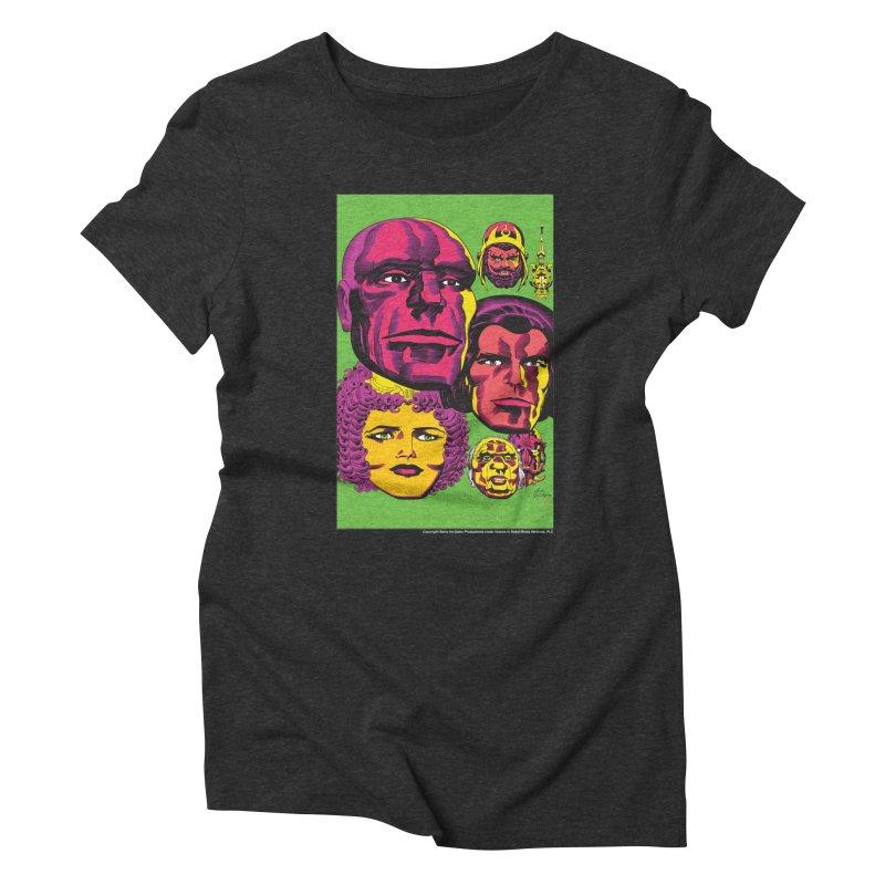 Portraits Women's Triblend T-Shirt by Heavy Metal Magazine