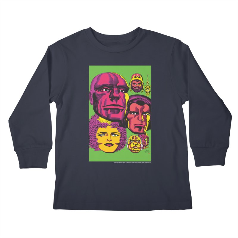 Portraits Kids Longsleeve T-Shirt by Heavy Metal Magazine