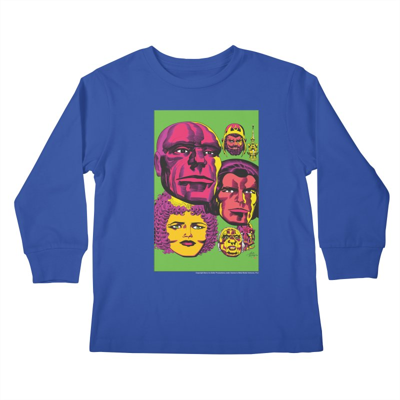 Portraits Kids Longsleeve T-Shirt by Heavy Metal Magazine