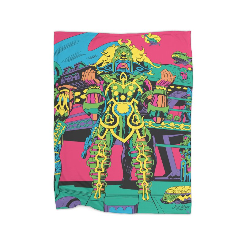 Terminal of the Gods - Jack Kirby and Barry Geller Home Fleece Blanket Blanket by Heavy Metal Magazine