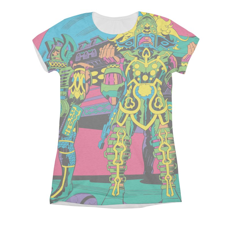 Terminal of the Gods - Jack Kirby and Barry Geller Women's All-Over Print Triblend T-Shirt by Heavy Metal Magazine