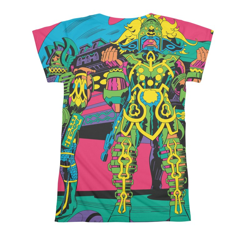 Terminal of the Gods - Jack Kirby and Barry Geller Women's All Over Print by Heavy Metal Magazine