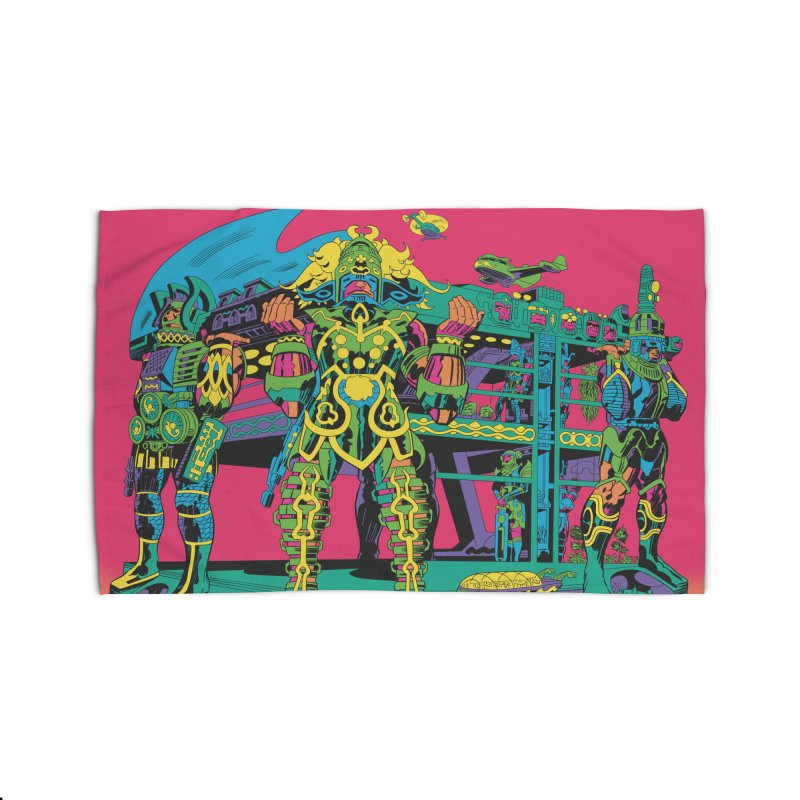 Terminal of the Gods - Jack Kirby and Barry Geller Home Rug by Heavy Metal Magazine