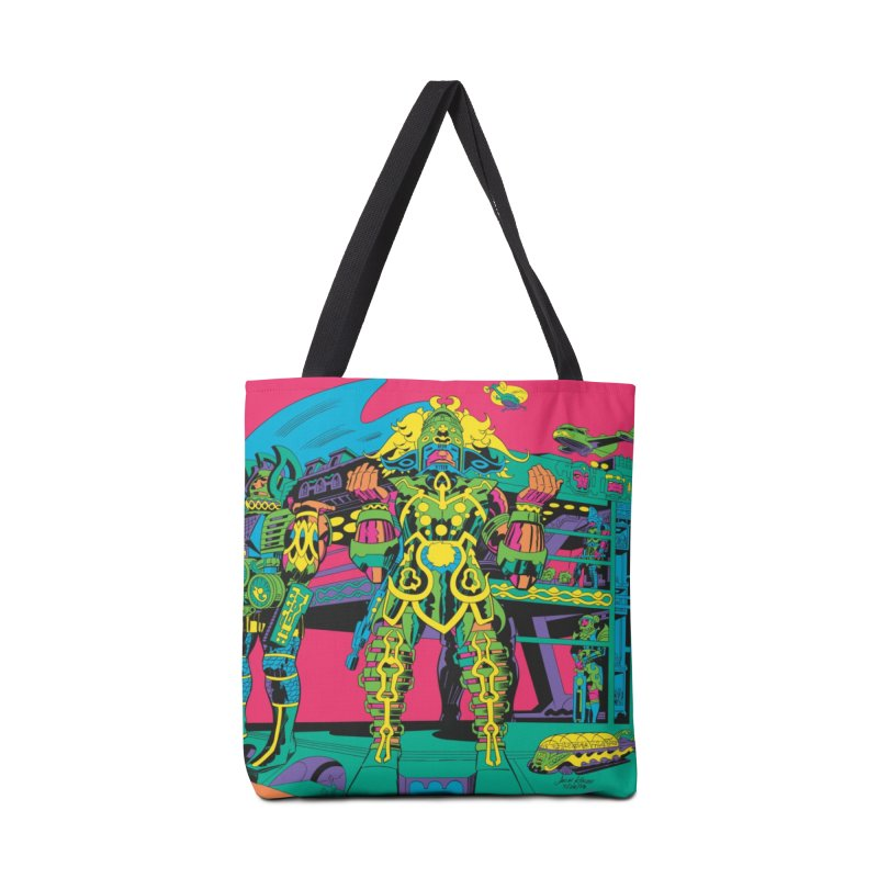Terminal of the Gods - Jack Kirby and Barry Geller Accessories Tote Bag Bag by Heavy Metal Magazine